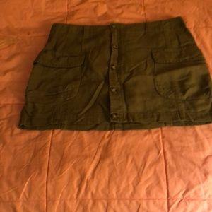 Olive green cargo skirt